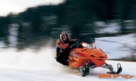 High Speed mit dem Snowmobile