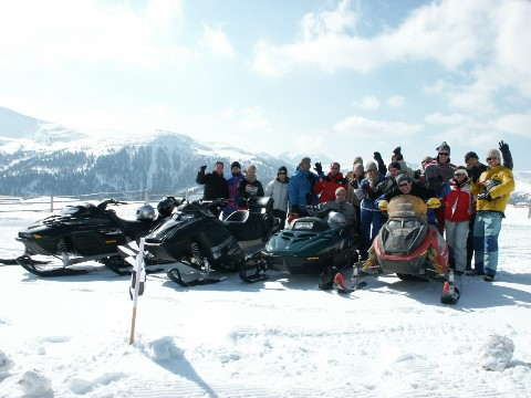 Snowmobile Event Snow Mobil Gruppe
